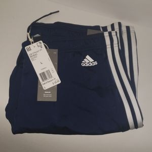 Women's Adidas joggers pants navy blue nwt large